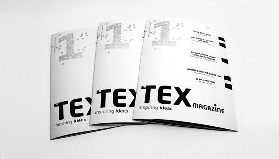 Covers eerste uitgave TEX magazine 'Inspiring Ideas' voor HAVEP in Goirle