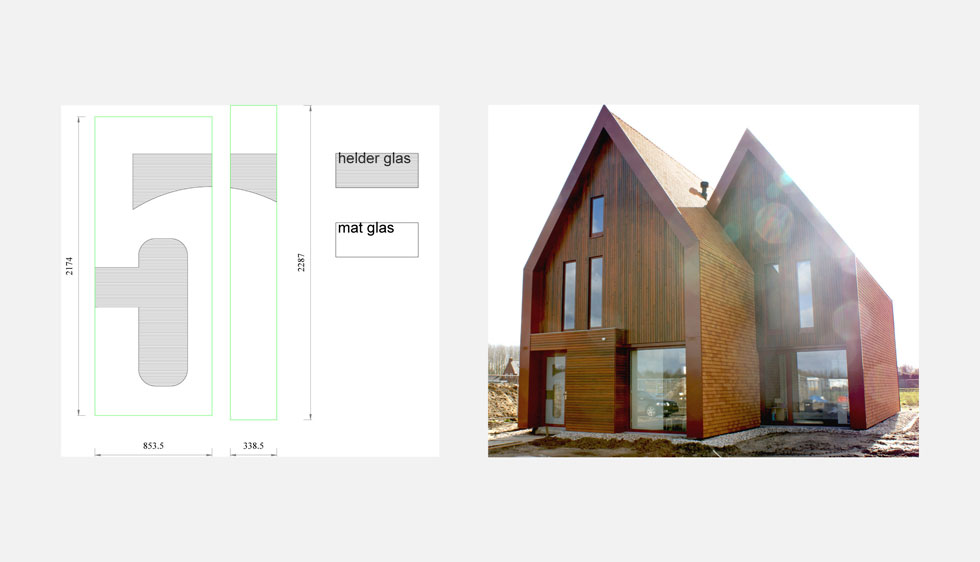Belettering voor architectenbureau DAT