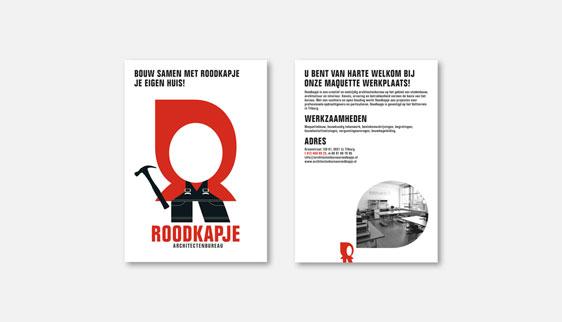 Flyer woonbeurs Koepelhal iov Roodkapje architecten