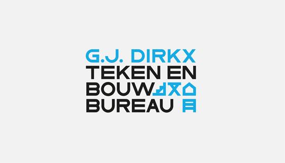 Logo & huisstijl teken-en bouwbureau GJ Dirkx
