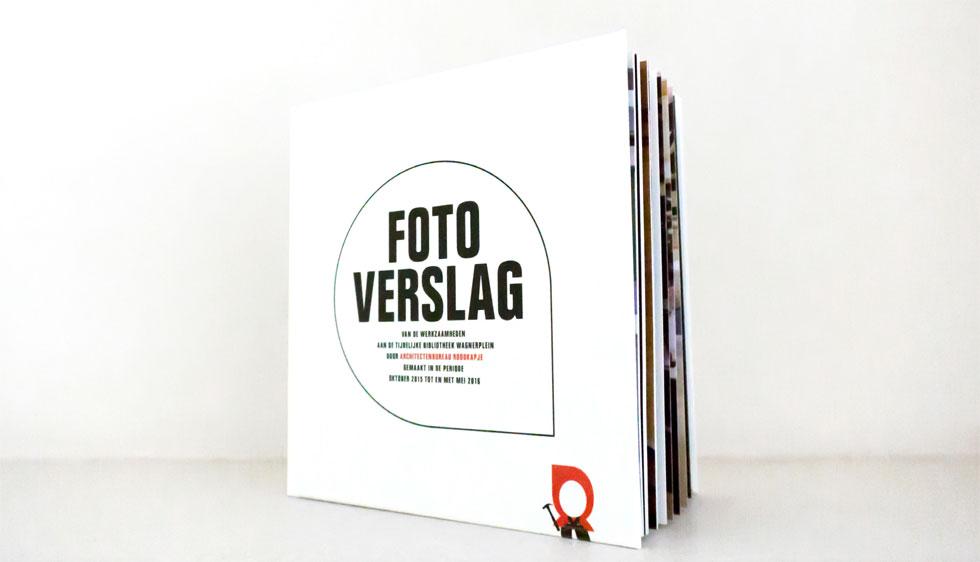 Fotoboek met eigen ISBN nummer i.o.v. architectenbureau Roodkapje voor De Bibliotheek Wagnerplein Tilburg
