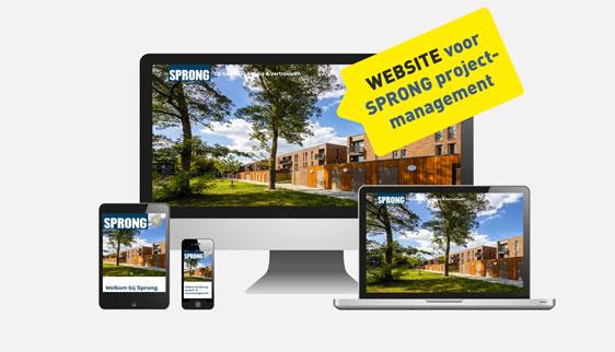 Website Sprong projectmanagement Tilburg