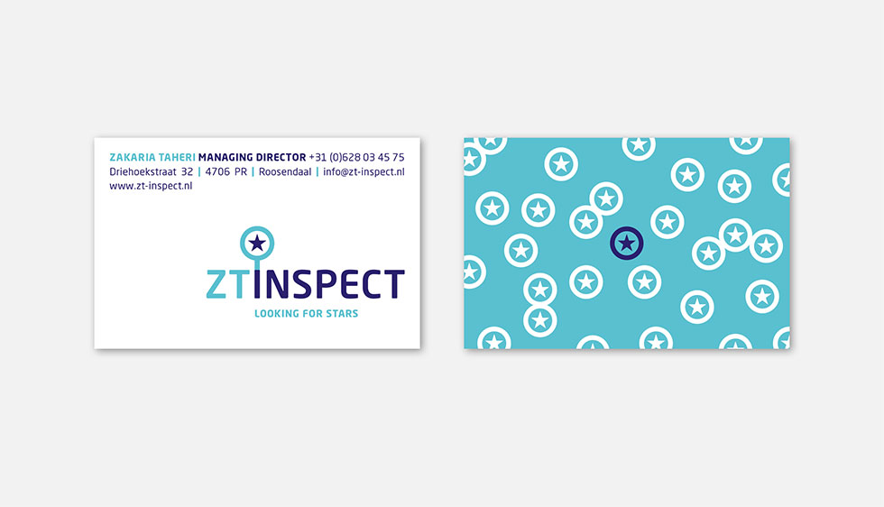 Logo en visitekaartje voor ZT-INSPECT