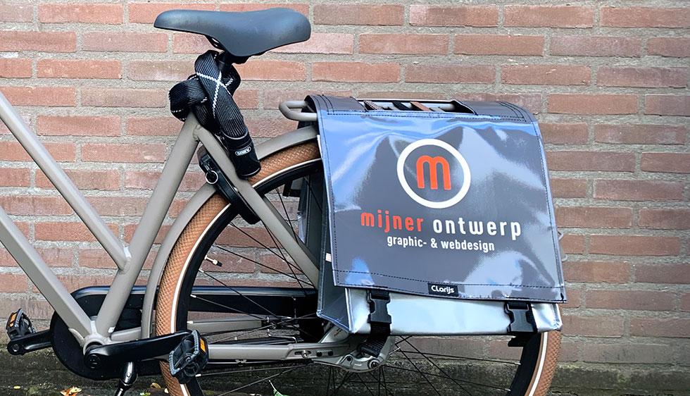 Belettering fietstas Mijner Ontwerp